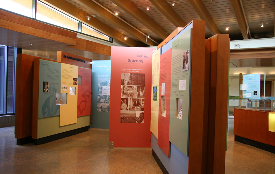 Visitor center design and exhibit design for St John's Archeological Site by Main Street Design.